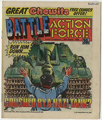 Battle Action Force 16th Aug 1986 (very high grade) Johnny Red, Charley's War