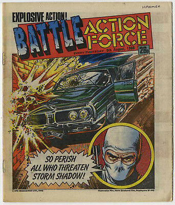 Battle Action Force 9th Aug 1986 (very high grade) Johnny Red, Charley's War