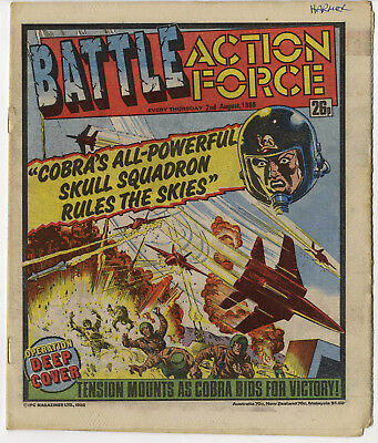 Battle Action Force 2nd Aug 1986 (very high grade) Johnny Red, Charley's War