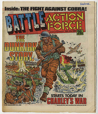 Battle Action Force 19th July 1986 (very high grade) Johnny Red, Charley's War