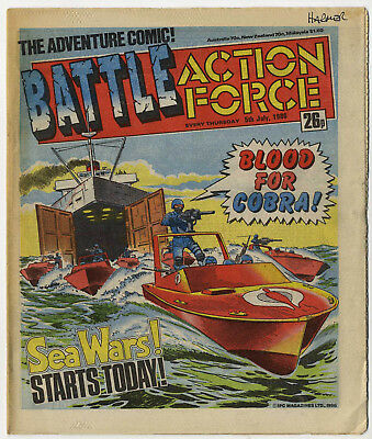 Battle Action Force 5th July 1986 (very high grade) Johnny Red, Charley's War