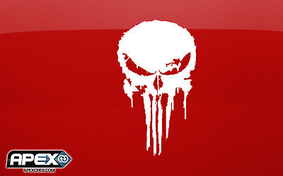 The Punisher Inspired Vinyl Decal Sticker - 4 Styles Black or White Tactical