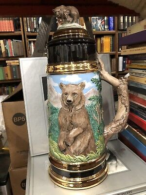 "Vintge Collectable Stein ""collectable Treasures "" Bear 🐻 16"" Tall Glenda Dawson"