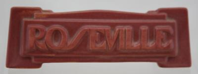 """ROSEVILLE 2"""" x 6.5"""" MARQUEE ADVERTISING/JEWELER SIGN IN APPLE BLOSSOM PINK MINT"""