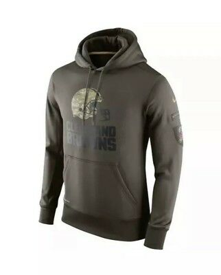 CLEVELAND BROWNS Salute to Service Hoodie 2015 Nike NFL STS Mens Size 2XL  XXL bb4751c0a