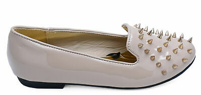 Womens Comfy Nude Flat Slip-On Ballet Dolly Smart Casual Work Shoes Sizes 3-8
