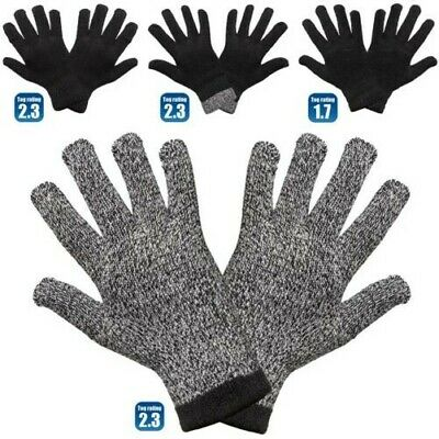 Mens Thermal Gloves Winter Wooly Warm Heat Insulator Stretch Thick Knitted Glove