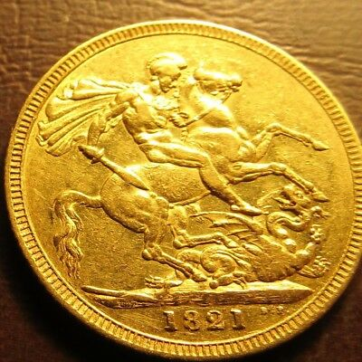 1821 George 1111 Full Sovereign
