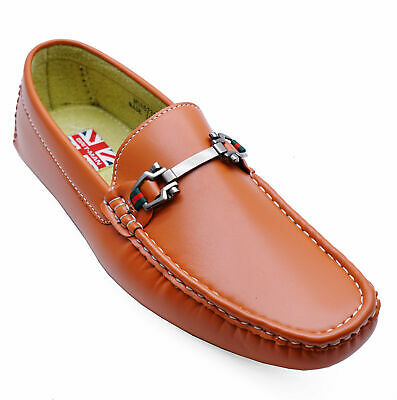208d3390d052e5 Mens Flat Burnt Orange Slip-On Smart Moccasin Casual Loafers Shoes Sizes  6-11
