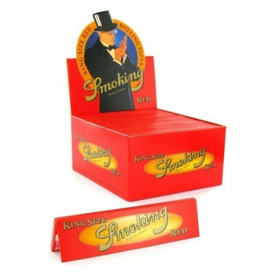 1 Box Smoking RED King Size Papers 50 x 33 Blättchen Long Papers Original®