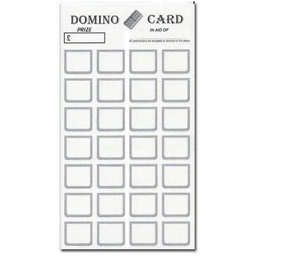 1-28 Domino Cards on Thick Quality Card & Easy Tear off Strip! CHOOSE YOUR PACK