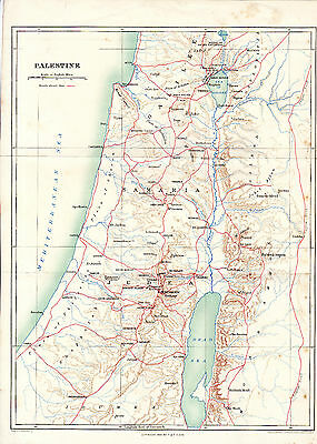 Palestine Johnston 1906 Map Galilee Samaria Judea Perea Phoenicia Decapolis