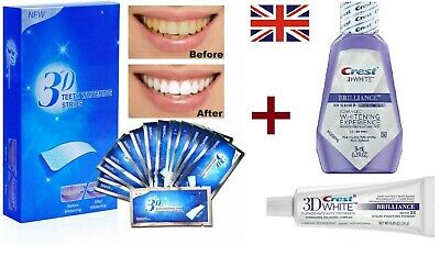 28 Professional Advanced Teeth Whitening Home Bleaching Strips + Whitening Pen
