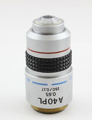 Olympus A 40x PL 0.65 160 Microscope Objective 40 BH2 Phase Contrast