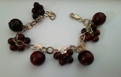 Sterling Silver and tigers eye bracelet fully hallmarked