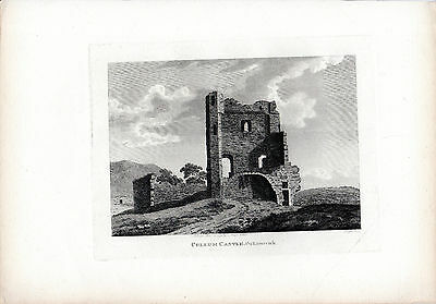 Rare Antique Irish Print - Cullum Castle, County Limerick - Hooper (1792)