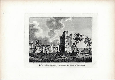 Rare Antique Irish Print - Selkser Abbey, Wexford - Hooper Copperplate (1794)