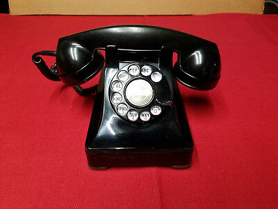 Vintage Model 302 Western Electric,Black Rotary Desk  Phone,