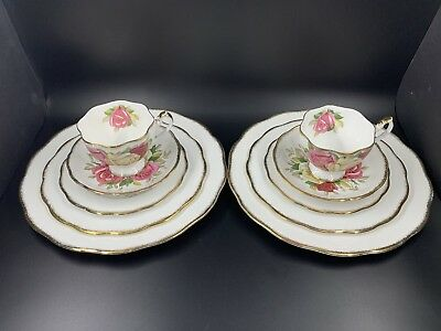 Queen Anne Lady Sylvia 5 Piece Plate Settings for 2 Bone China England 10 pieces