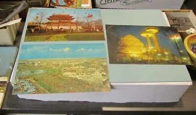 1964 1965 New York World's Fair Giant Postcard Lot Unisphere China Pavilion