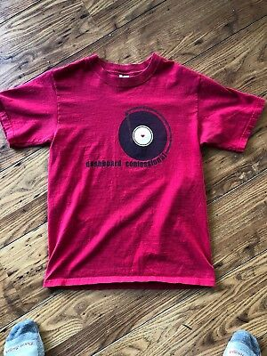 VINTAGE Dashboard Confessional T Shirt Turntable Print Rock Music Alternative