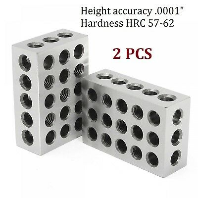 2 Pcs 25x50x75mm Blocks 23 Holes Clamping Block Precision Milling Machinist Tool