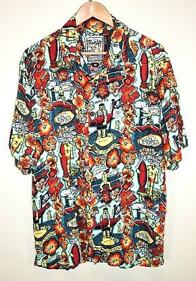 MAMBO LOUD VINTAGE HAWAIIAN SHORT SLEEVED SHIRT ORIGINAL AUSTRALIA size M - XL