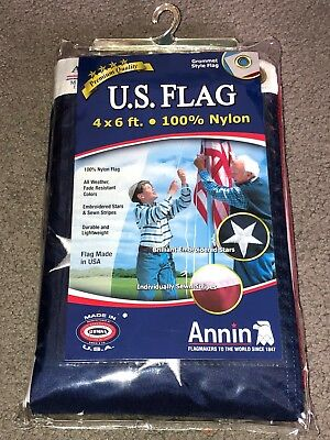 Annin 4' x 6' 100% Nylon United States Flag. New in Package.