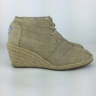 7a630da4baea Toms Desert Wedge Women s Lace Up Ankle Booties Size US 6.5 EU 39