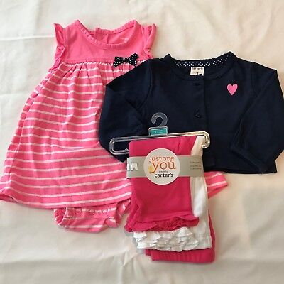 cfb658995 NEW CARTER S MIXED Lot Baby Girl Outfit 3Mo Romper