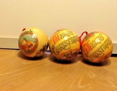 Vintage Paper Mache Christmas Ball Ornament Decoupage Santa Ornament Bulb