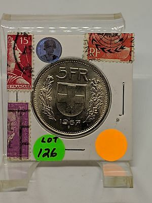 1967 B Switzerland 5 Francs Helvetica-Silver Coin - Lot-126