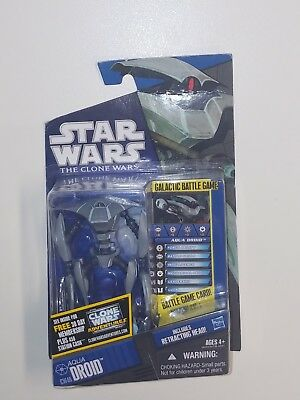 Star Wars The Clone Wars Collection CW46 AQUA DROID Figure Army Troop Build