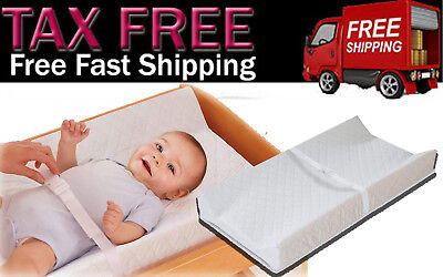Summer Infant Contoured Baby Diaper Changing Pad With Security Strap Waterproof