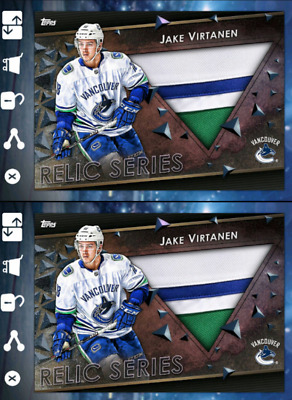 2X 18-19 RELIC MARATHON AWAY JAKE VIRTANEN Topps NHL Skate Digital Card