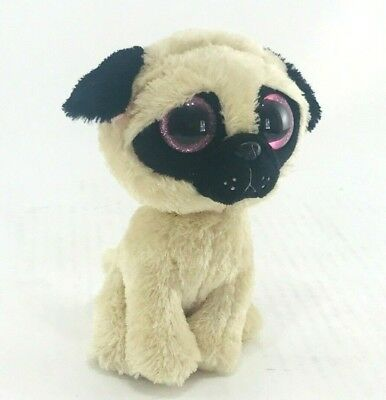 TY BEANIE BOOS PUGSLY the Pug Plush Dog Stuffed Animal - No Hang Tag ... 50956261528