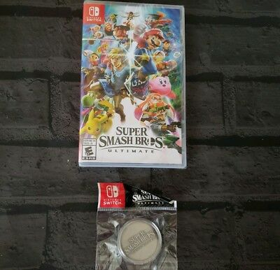 Nintendo Switch Super Smash Bros. Ultimate with Coin NEW FAST SHIPPING