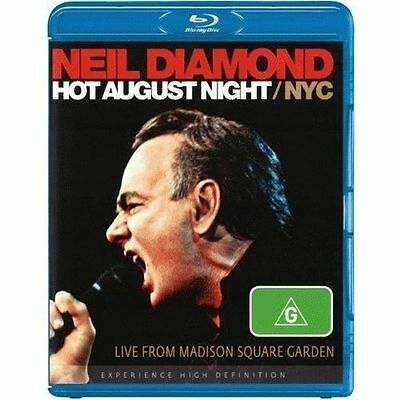 NEIL DIAMOND HOT AUGUST NIGHT/NYC Live From Madison Square BLU-RAY ALL REG. NEW