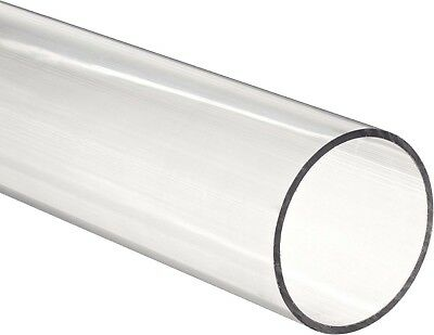 """Clear acrylic Plastic Plexiglass Pipe tube 3"""" 89 mm fits 3"""" PVC fittings by ft"""