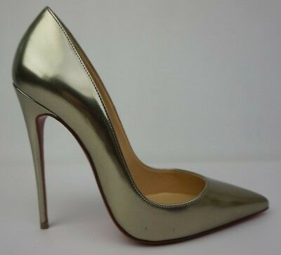 1f8ce592d638 Christian Louboutin So Kate 120 mm Patent Leather Pewter Pumps Heels Size  36.5