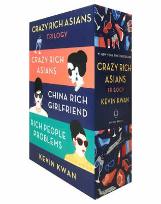 The Crazy Rich Asians Trilogy Box Set by Kevin Kwan (2018, Paperback)