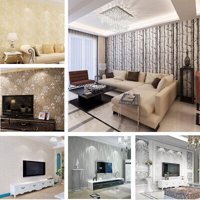 10M 3D Luxury Modern Theme Stripe Embossed Wallpaper Roll Wall Papers Home Decor