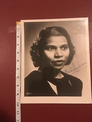 Marian Anderson African American Contralto Singer SIGNED Perfect Condition