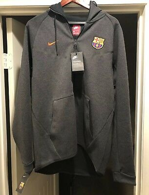 9df7794c6820 NEW AUTHENTIC NIKE FC Barcelona Tech Fleece Hoodie Large With Tags ...