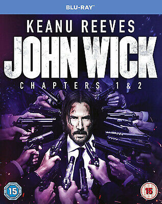 JOHN WICK Chapters 1 & 2 [Blu-ray] (2014-2017) 2-Movie Combo Pack Keanu Reeves