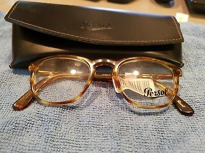 a972b11823 PERSOL PO3143V 1050 Eyeglass frames STRIPED YELLOW 47 21 145 New ...