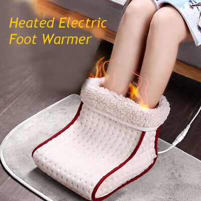 Electric Warm Foot Warmer Cosy Heated Washable Heat Settings Slippers Relaxing