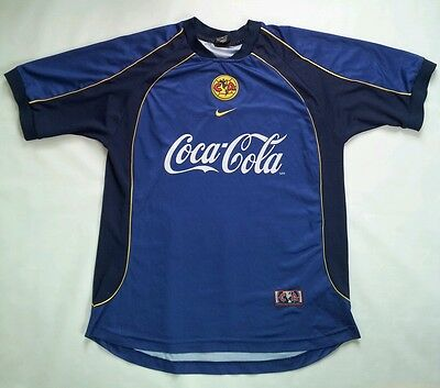Vintage Rare Nike Dri-Fit Club America Authentic Soccer Jersey In Size L 2b4b00022