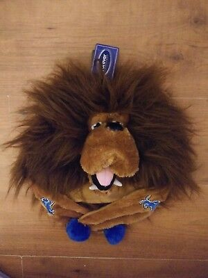 Nwt Detroit Lions Roary The Lion Nfl Mascot Plush Hat Stuffed Animal