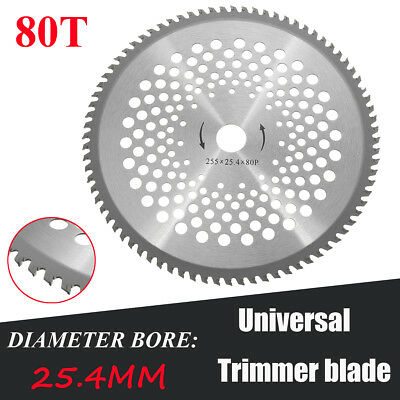 80 Tooth Carbide Blade For Brush Cutter Strimmer 25.4mm Bore Diameter 10'' Steel
